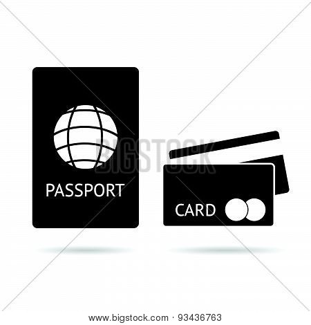 Passport And Card Vector
