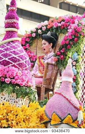 girl in flower festival