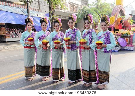 Girl group in Flower Festival