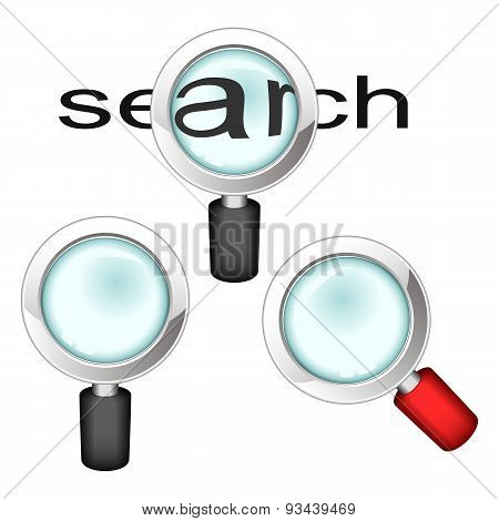 Set Of Magnifying Glasses