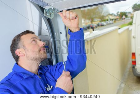 Fixing a damaged door