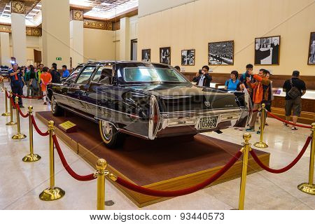 The vintage presidential limousine