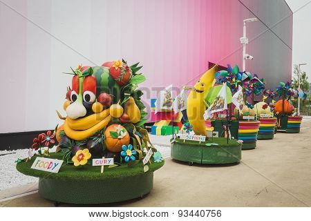 Foody Mascot At Expo 2015 In Milan, Italy