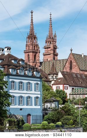 Church Spires Of Basel Minster
