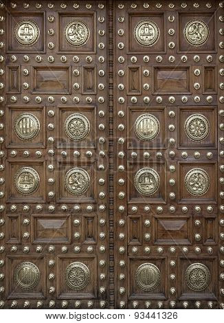 Large Wooden Doors Decorated
