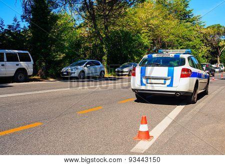 Italian Municipal Police Car