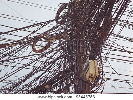 Electricity Cables In Thailand