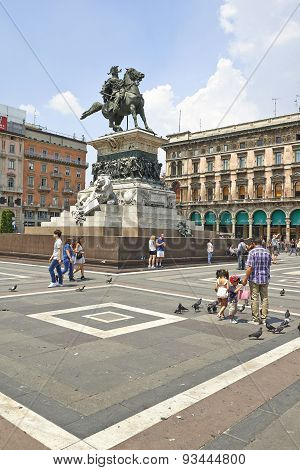 The Monument To King Vittorio Emanuele Ii.