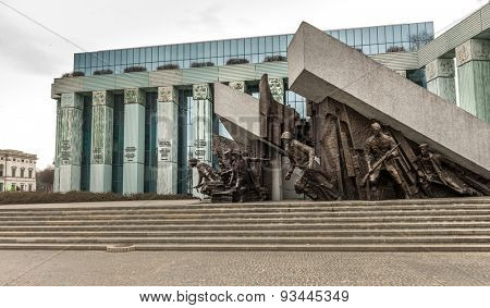 WARSAW, POLAND - MARCH 8 : Monument to Polish fighters uprising in Warsaw Poland on March 8, 2015