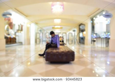Abstract Blur Or Defocus Background Of People Or Business Man Using Mobile Phone