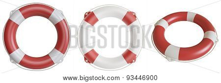 Illustration lifebuoy isolated on white background.