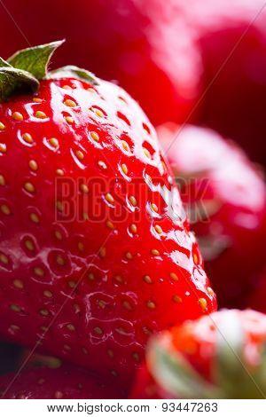 Closeup of Fresh Red Strawberry