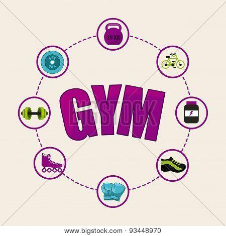 gym circular icon