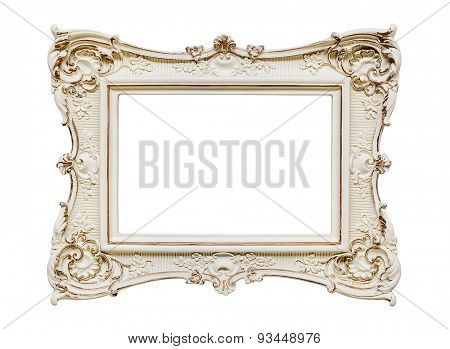Vintage frame on white -Clipping path