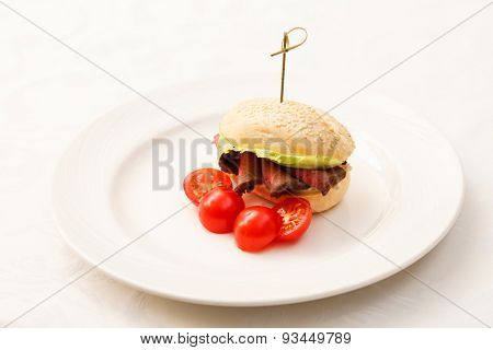 burger with beef