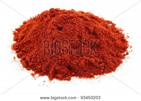A pile of the spice paprika