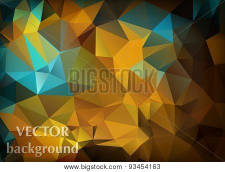 Abstract Vector Background Of Triangles Polygon Wallpaper. Web Design In Bright Elegant Colors