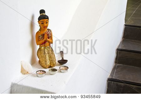 Statue Of Woman Praying
