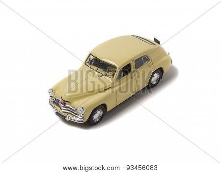 Model Retro Car, Isolated On A White Background