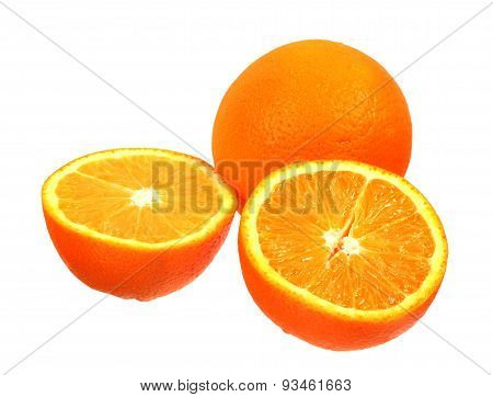 Full Orange Fruit And Segments