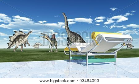 The park of the dinosaurs