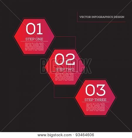 Step by Step Infographics Success Vector Design Template | EPS10