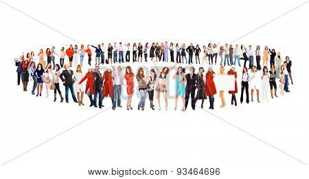 Workforce Concept Big Group