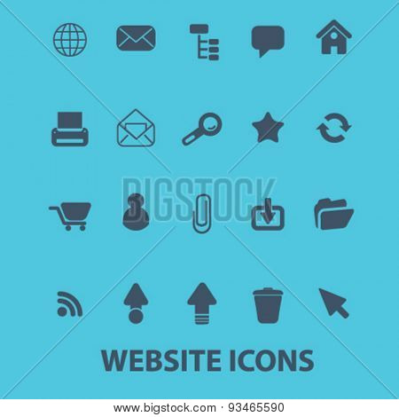website, internet site icons, signs, illustrations set, vector