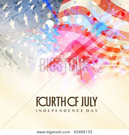 Fourth of July, American Independence Day celebration background in national flag colors.