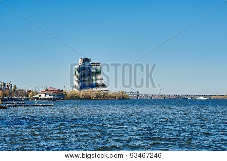 Unfinished Hotel Sail In Dnipropetrovsk, Ukraine