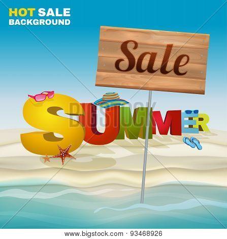 Seasonal summer sale poster