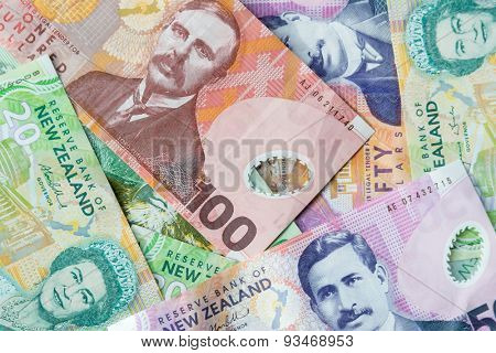 New Zealand paper money notes