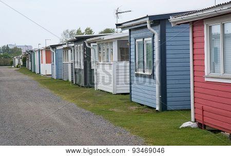 Seaside beach huts