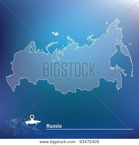 Map of Russia - vector illustration