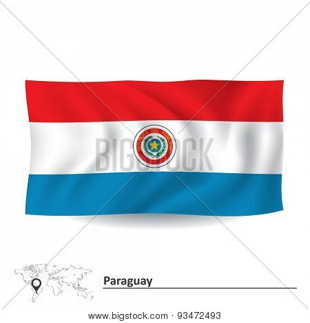 Flag of Paraguay - vector illustration
