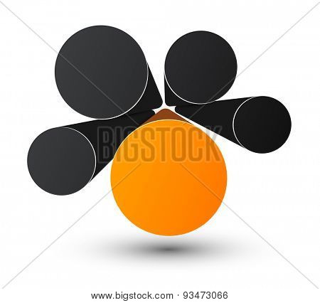 Bubble infographics perspective design. Vector illustration.
