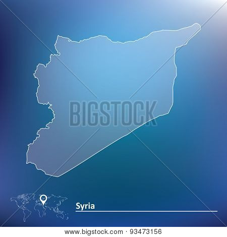 Map of Syria - vector illustration