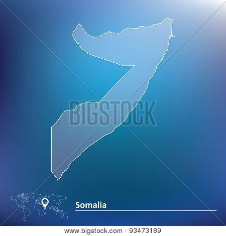 Map of Somalia - vector illustration