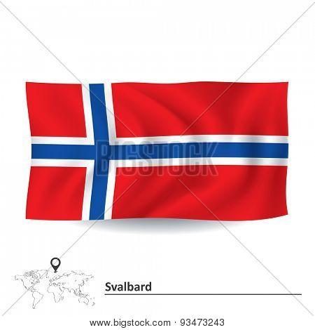 Flag of Svalbard - vector illustration