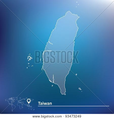 Map of Taiwan - vector illustration