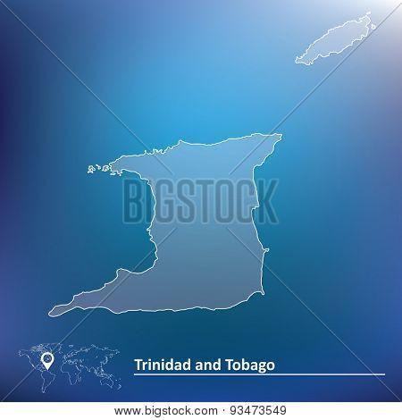 Map of Trinidad and Tobago - vector illustration