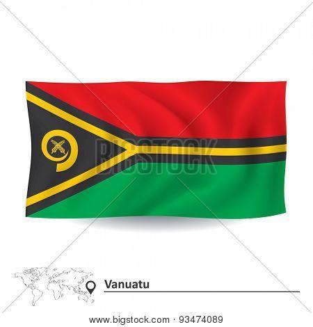Flag of Vanuatu - vector illustration