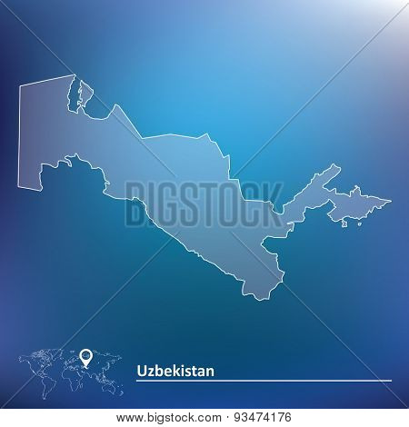 Map of Uzbekistan - vector illustration