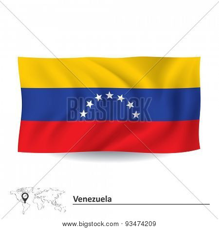 Flag of Venezuela - vector illustration