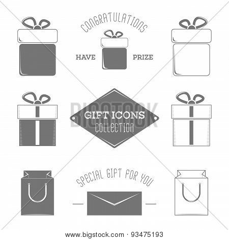 Gift icons collection.