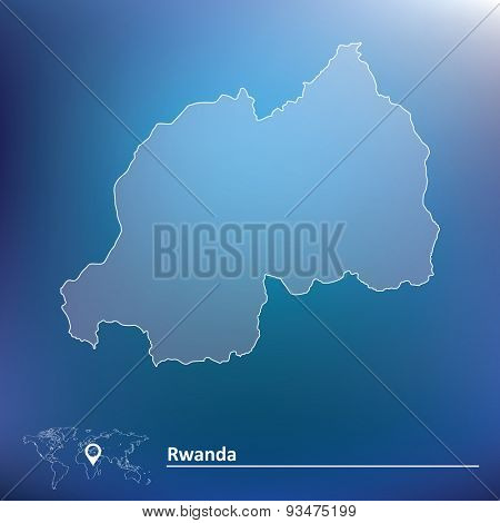 Map of Rwanda - vector illustration