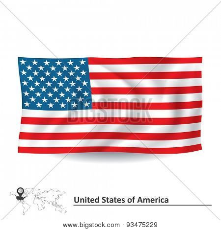 Flag of United States of America - vector illustration