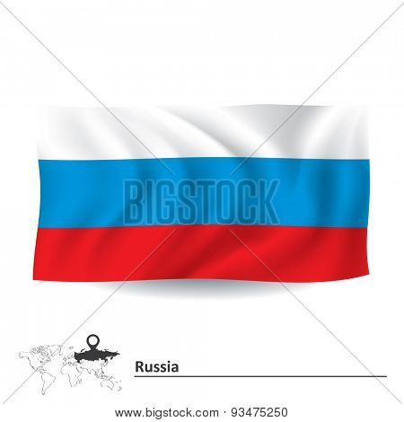 Flag of Russia - vector illustration