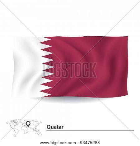 Flag of Quatar - vector illustration