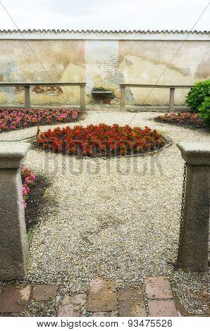 Certosa di Pavia, internal detail. Color image